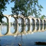 """Railroad Bridge over the Susquehanna River"" by MsT"