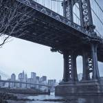 """""""Manhattan + Brooklyn Bridges New York City"""" by AlanCopson"""