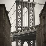 """Manhattan Bridge + Empire State Building New York"" by AlanCopson"