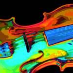 """Violin Bright Colors"" by walbyent"