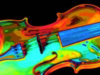 Violin Bright Colors