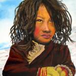"""Tibetan child"" by lorecolore"