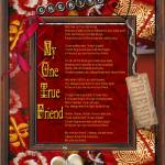 """My One True Friend  Cherish"" by kathytarochione"