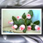 """""""Flute with Roses with silky Silver Swirl frame"""" by artistmichelle"""
