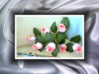 Flute with Roses with silky Silver Swirl frame