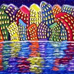 """""""Dancing City On The Water"""" by reniebritenbucher"""
