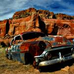 """Busted on Route 66"" by jwoodphoto"
