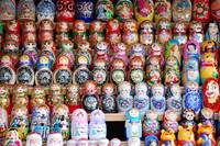 Russian Dolls in the Moscow Flea Market
