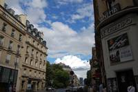 Clouds on a beautiful day in Paris