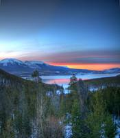Lake Dillon East Sunset - Square