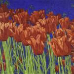 """Fine Art Prints Red Tulips Art Flowers Tulip Art"" by BasleeTroutman"