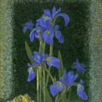 """Fine Art Prints Irises Flowers Iris Wall Art Frogs"" by BasleeTroutman"
