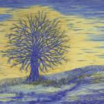 """Fine Art Prints Blue Wall Art Oak Trees Modern"" by BasleeTroutman"