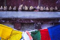 flags and offerings