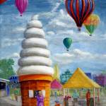 """Giant Ice Cream Cone and Balloons"" by Lenora"