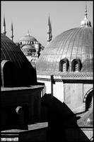 Blue Mosque as seen from Hagia Sophia, Istanbul