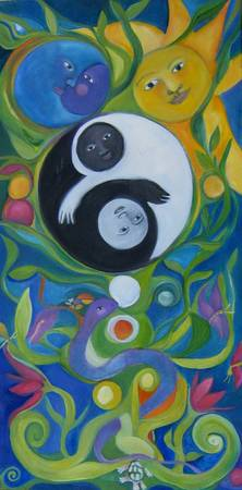 Tree of life, ying yang