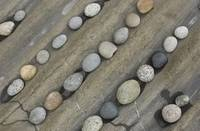 rows of round rocks