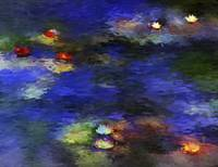 Pond with Lilies Inspired by Monet