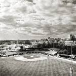 """McCormick Field, Asheville, NC b/w"" by kristihedberg"