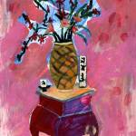 """Flowers & Vase (Pink)"" by JohnDouglas"