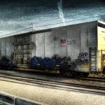 """Graffiti Train Car"" by MatthewBrander"