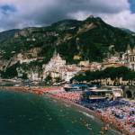 """Beach at Amalfi"" by DonnaCorless"