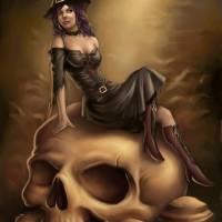 Happy Halloween Witch Art Prints & Posters by Nicco Miranda