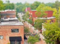 Downtown Summerville in miniature