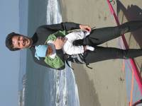 Windsurfing in San Francisco with my daddy