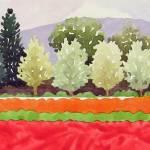 """Orange & Coral Fields"" by studiobythesound"