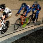 """Track cyclist going into Final Turn"" by jeffreysinnock"