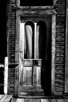 Creepy Ghost Town Door