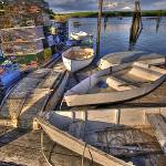 """Row Boats and Lobster Traps in Pemaquid Harbor"" by DigiPix"