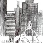 """Downtown Chicago, Chicago Art By Riccoboni"" by BeaconArtWorksCorporation"