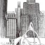 """Downtown Chicago, Chicago Art By Riccoboni"" by RDRiccoboni"