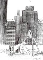 Downtown Chicago, Chicago Art By Riccoboni