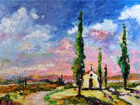 Tuscany Italy - My Secret Place Oil Painting by Gi