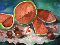 Watermelon Still Life by Sonya P.