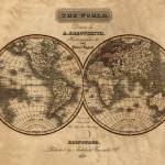 """Map of the World in 1823"" by worldwidearchive"