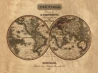 Map of the World in 1823 by WorldWide Archive