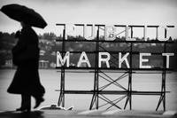 rainy market sign