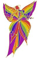 Rainbow Butterfly Woman