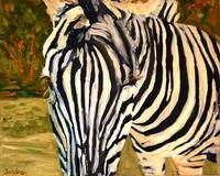 Zebra, Oil Painting Wildlife Animal Art