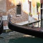 """Gondolas passing, Venice"" by dwydra"