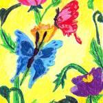 """Annette Sujo 11- Butterfly Garden"" by sabahkinderart"