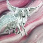 """winged sky dance 1995"" by cabartbycindybeck"