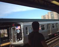 R160B Q Train approaching W 8th Street