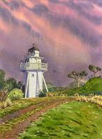 Shag Point Lighthouse with Vivid Sky