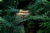 Hocking Hills  bridge deep in the woods of ohio